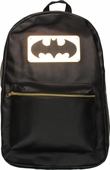 Batman Metal Plate Faux Leather Backpack