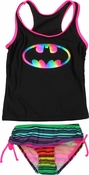Batman Metallic Logo Girls Tankini Swimsuit