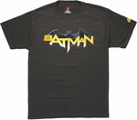 Batman New 52 Name Logo T Shirt