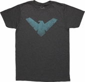 Batman Nightwing Vintage Logo T-Shirt Sheer