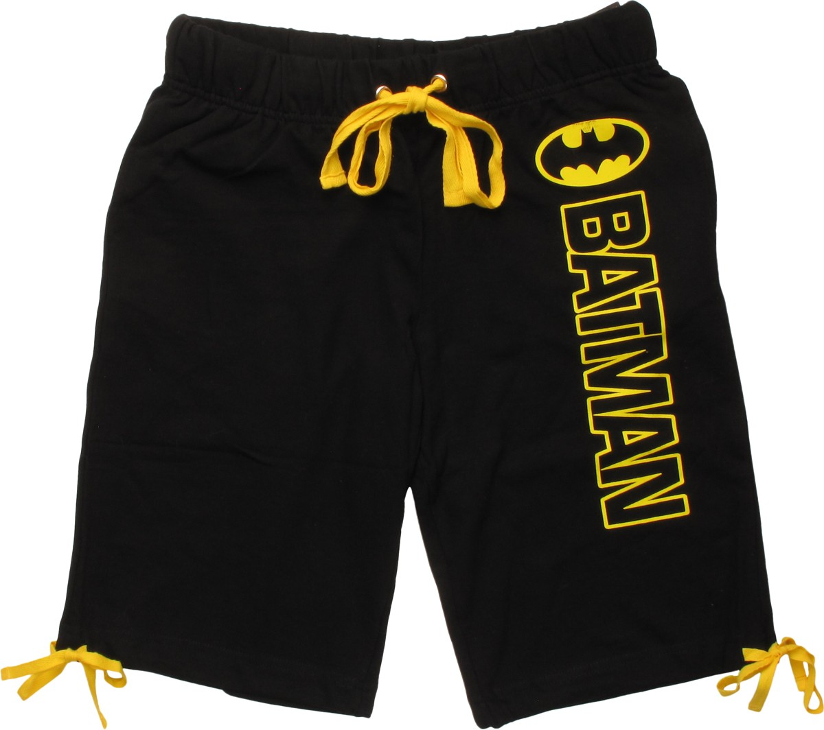 batman outline name and logo shorts