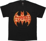 Batman Pizza Logo T Shirt