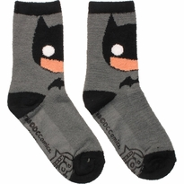 Batman Pop Heroes Fuzzy Crew Socks