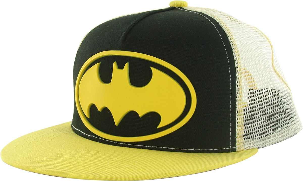 batman pvc logo trucker hat
