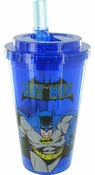 Batman Run Blue Flip Straw Travel Cup