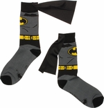 Batman Suit Caped Crew Socks
