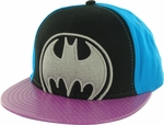 Batman Tricolor Purple Visor Hat