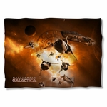 Battlestar Galactica Dog Fight Pillow Case