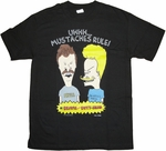 Beavis and Butthead Mustaches Rule T Shirt