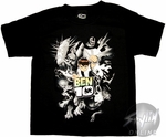 Ben 10 Black White Juvenile T-Shirt