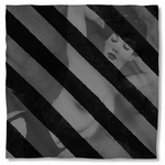 Bettie Page Black Stripes Bandana