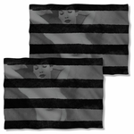Bettie Page Black Stripes FB Pillow Case