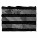 Bettie Page Black Stripes Pillow Case