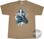 Bettie Page Blue Hearts T-Shirt