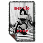Bettie Page Boots Throw Blanket