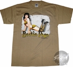 Bettie Page Leopard Name T-Shirt