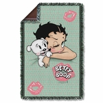 Betty Boop Goodnight Kiss Throw Blanket