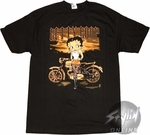 Betty Boop Motorcycle T-Shirt