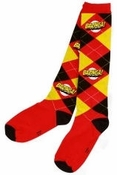 Big Bang Theory Bazinga Argyle Socks