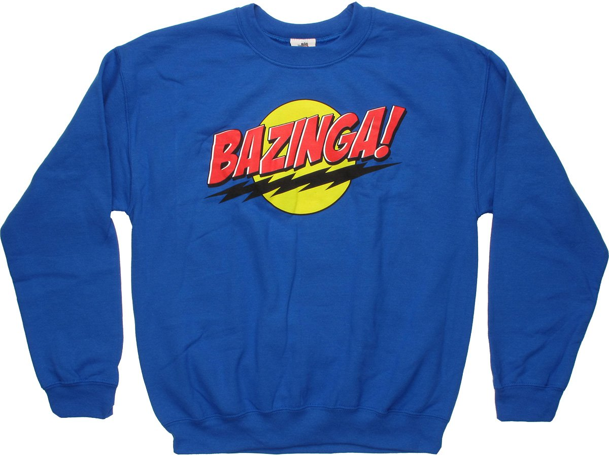 Big Bang Theory Bazinga Blue Sweatshirt