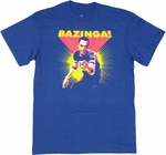 Big Bang Theory Bazinga Sheldon Posterized T Shirt