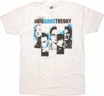 Big Bang Theory Character Panels T Shirt Sheer