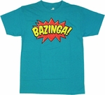 Big Bang Theory Comic Bazinga T Shirt