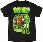 Big Bang Theory Comic Heroes T Shirt