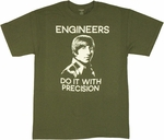 Big Bang Theory Engineers Precision T Shirt
