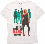 Big Bang Theory Group Penny Front T Shirt Sheer