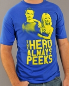 Big Bang Theory Hero Peeks T Shirt