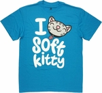 Big Bang Theory Love Soft Kitty T Shirt