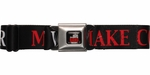 Big Bang Theory Make Coitus Not War Seatbelt Mesh Belt
