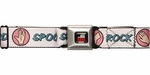 Big Bang Theory Rock Paper White Seatbelt Belt