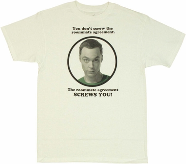 Big Bang Theory Roommate Agreement T Shirt