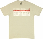 Big Bang Theory Schedule T Shirt