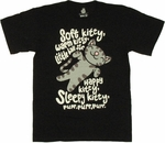 Big Bang Theory Soft Kitty Black T Shirt