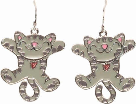 Big Bang Theory Soft Kitty Jumping Earrings