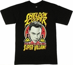 Big Bang Theory Super Villain Shaded T Shirt