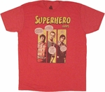Big Bang Theory Superhero Quips T Shirt