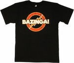 Big Bang Theory Vintage Bazinga T Shirt