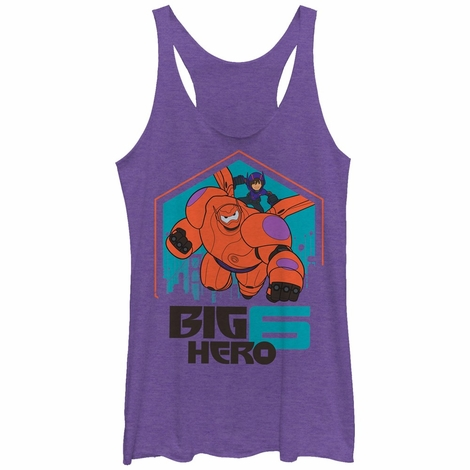 Big Hero 6 Duo Flight Tank Top Juniors T-Shirt