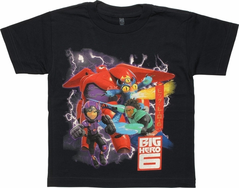 Big Hero 6 Heroic Group Juvenile T-Shirt