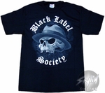 Black Label Society Skull Hat T-Shirt