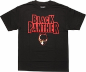 Black Panther Vintage Logo T-Shirt