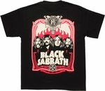 Black Sabbath Group Flames T Shirt
