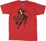 Black Widow Vintage T Shirt Sheer