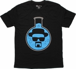 Breaking Bad Heisenberg Flask Simple T Shirt Sheer