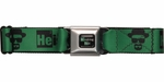 Breaking Bad Heisenberg Green Seatbelt Mesh Belt