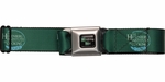 Breaking Bad Heisenberg Institute of Cooking Logo Green Seatbelt Mesh Belt